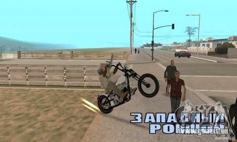 Chopper Shovel HD v2.1-mat pour GTA San Andreas vue de droite