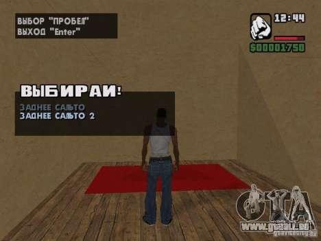 Training and Charging 2 pour GTA San Andreas cinquième écran