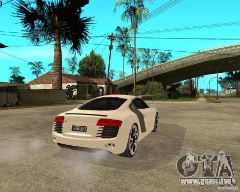 Audi R8 light tunable pour GTA San Andreas sur la vue arrière gauche
