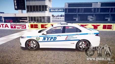 Honda Accord Type R NYPD (City Patro 1950l) ELS für GTA 4 linke Ansicht