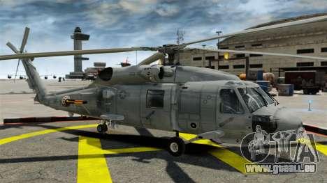 Der Hubschrauber der Sikorsky SH-60 Seahawk für GTA 4 Rückansicht
