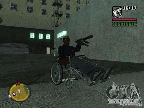 Fauteuil roulant manuel pour GTA San Andreas vue de droite