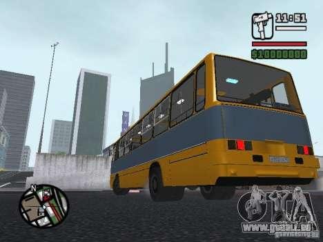 Ikarus 263 für GTA San Andreas Innenansicht