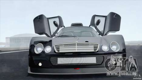 Mercedes-Benz CLK GTR Race Car für GTA San Andreas zurück linke Ansicht