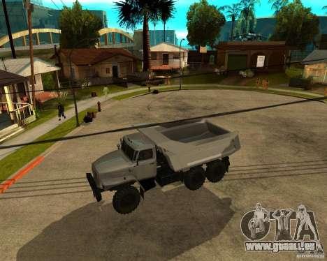 Ural camion à benne basculante 55571 pour GTA San Andreas sur la vue arrière gauche
