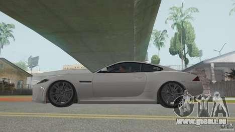Jaguar XKR-S für GTA San Andreas zurück linke Ansicht