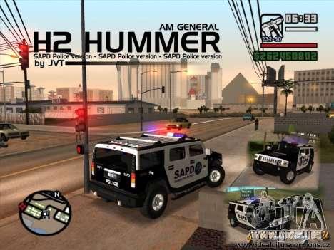 AMG H2 HUMMER SUV SAPD Police pour GTA San Andreas