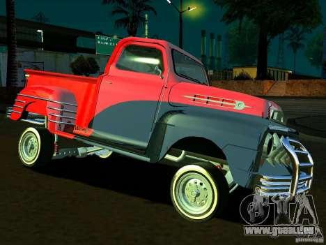 Ford Pick Up Custom 1951 LowRider pour GTA San Andreas vue de côté