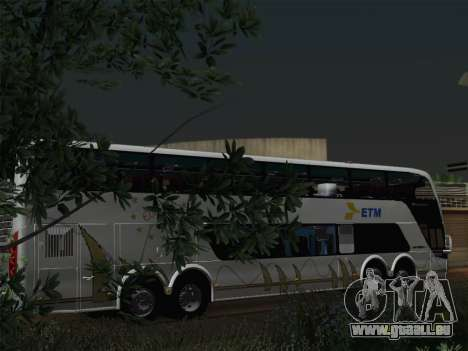 Busscar Panoramico DD 8x2 für GTA San Andreas Motor