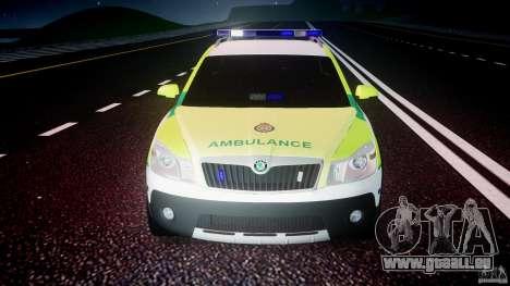 Skoda Octavia Scout Paramedic [ELS] für GTA 4 Unteransicht