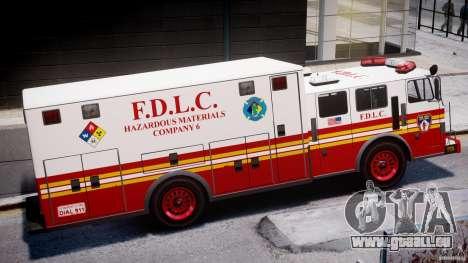 LCFD Hazmat Truck v1.3 für GTA 4 hinten links Ansicht
