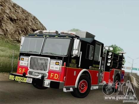 Seagrave Marauder Engine SFFD für GTA San Andreas Innen