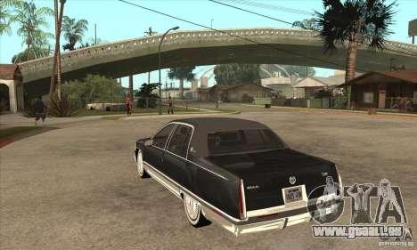 Cadillac Fleetwood 1993 pour GTA San Andreas sur la vue arrière gauche
