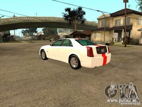 Cadillac CTS 2003 Tunable pour GTA San Andreas laissé vue