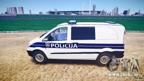 Mercedes Benz Viano Croatian police [ELS] pour GTA 4 est une gauche