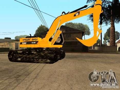 Pelle CAT pour GTA San Andreas vue arrière