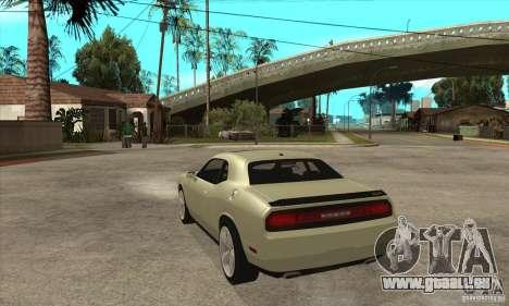 Dodge Challenger SRT8 2009 für GTA San Andreas zurück linke Ansicht