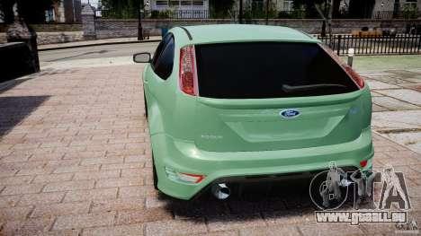 Ford Focus RS pour GTA 4 Vue arrière de la gauche