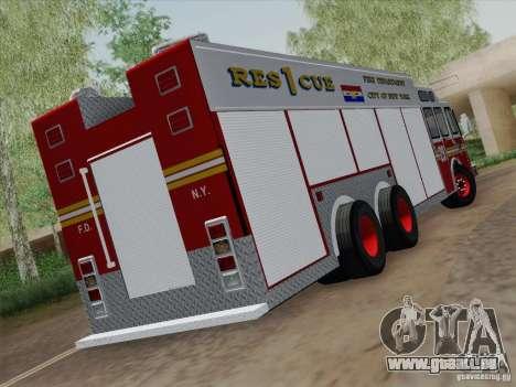 E-One F.D.N.Y Fire Rescue 1 pour GTA San Andreas vue de droite