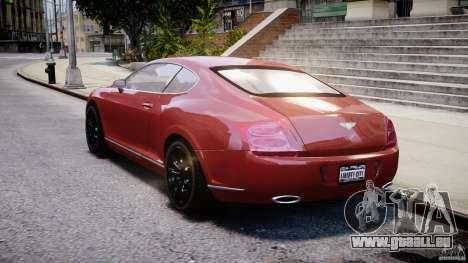 Bentley Continental GT 2004 pour GTA 4 Vue arrière de la gauche