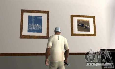 Maisons neuves à coffre intérieurs pour GTA San Andreas troisième écran