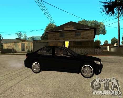 Mercedes Benz C350 W204 Avantgarde pour GTA San Andreas vue de droite
