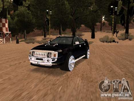 Hummer H0 pour GTA San Andreas vue arrière