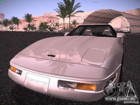Chevrolet Corvette Grand Sport für GTA San Andreas zurück linke Ansicht