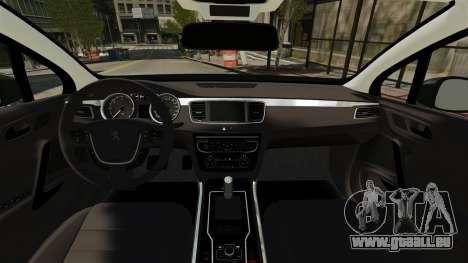 Peugeot 508 Presidentielle ELS für GTA 4 rechte Ansicht