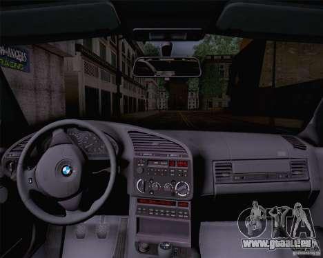 BMW M3 E36 1995 pour GTA San Andreas sur la vue arrière gauche