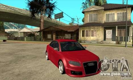Audi RS4 2006 für GTA San Andreas Rückansicht