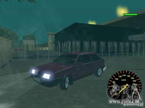 VAZ 2108 classique pour GTA San Andreas vue arrière