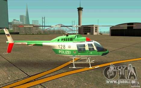 Bell 206 B Police texture3 für GTA San Andreas zurück linke Ansicht