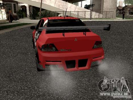 Mitsubishi Lancer Evo 8 pour GTA San Andreas vue de droite