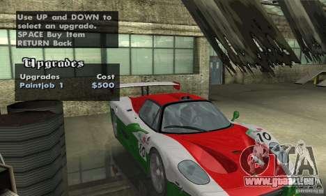 Ferrari F50 GT (v1.0.0) pour GTA San Andreas vue de côté