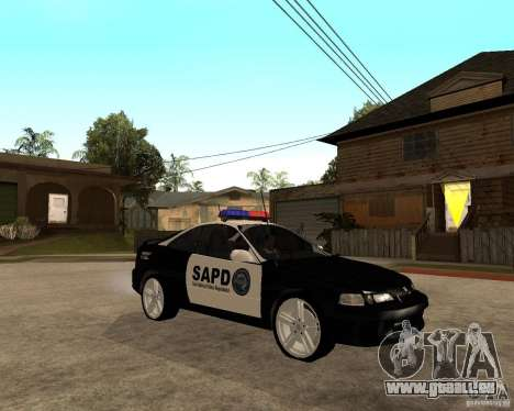 Honda Integra 1996 SA POLICE pour GTA San Andreas vue arrière