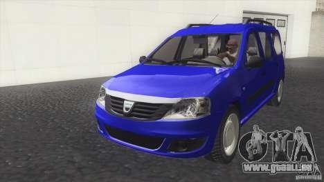 Dacia Logan MCV Facelift für GTA San Andreas rechten Ansicht