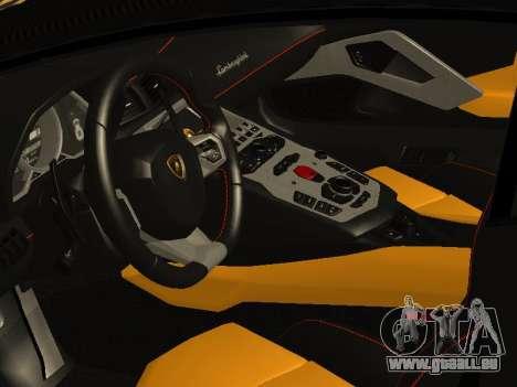 Lamborghini Aventador LP700-4 Vossen für GTA San Andreas Innenansicht