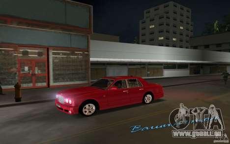 Bentley Arnage T 2005 pour une vue GTA Vice City de la gauche
