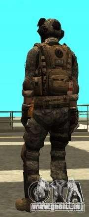 USA Army Special Forces (FIXED) pour GTA San Andreas troisième écran