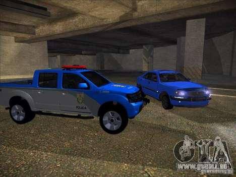 Nissan Frontier PMERJ pour GTA San Andreas laissé vue