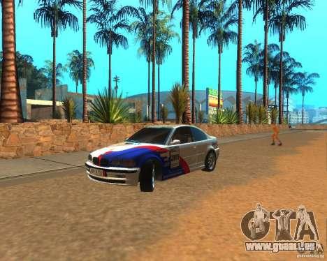 BMW 318i E46 2003 pour GTA San Andreas laissé vue