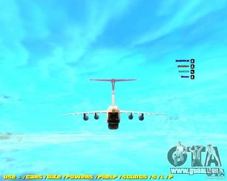 Lockheed C5-M Super Galaxy pour GTA San Andreas sur la vue arrière gauche