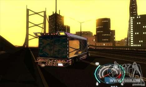 Camion japonaise pour GTA San Andreas sur la vue arrière gauche