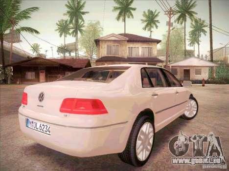 Volkswagen Phaeton 2011 für GTA San Andreas zurück linke Ansicht