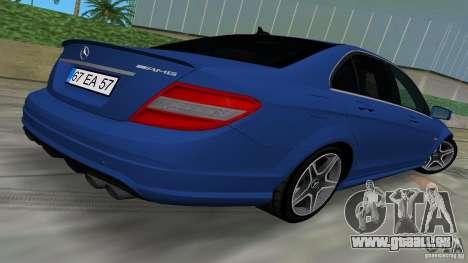 Mercedes-Benz C63 AMG 2010 für GTA Vice City Innenansicht