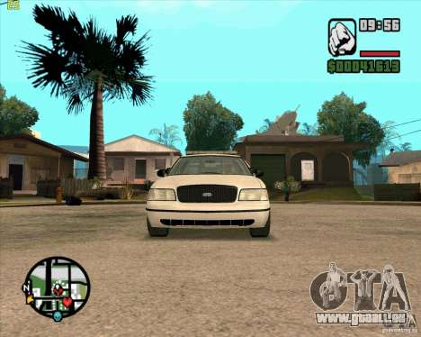 Ford Crown Victoria Baltmore County Police pour GTA San Andreas laissé vue