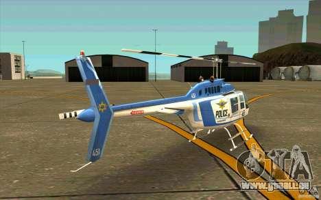 Bell 206 B Police texture1 für GTA San Andreas rechten Ansicht