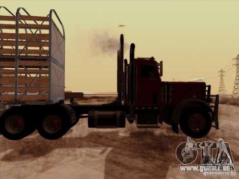 Peterbilt 359 Day Cab pour GTA San Andreas vue de droite