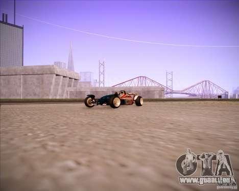 Track Mania Stadium Car pour GTA San Andreas sur la vue arrière gauche